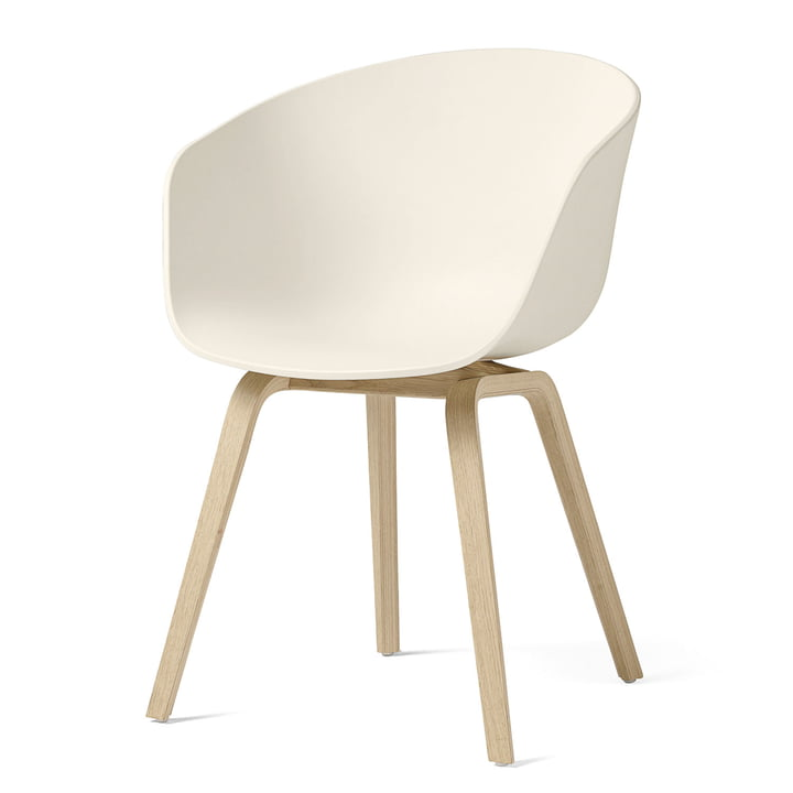 About A Chair AAC 22 by Hay in matt lacquered oak / cream white