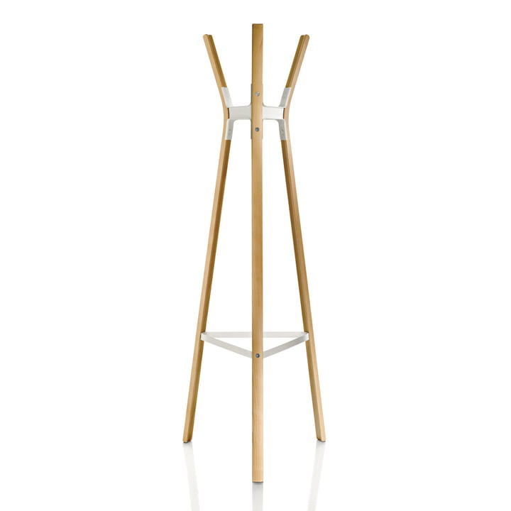 Steelwood coat rack by Magis in beech nature / white
