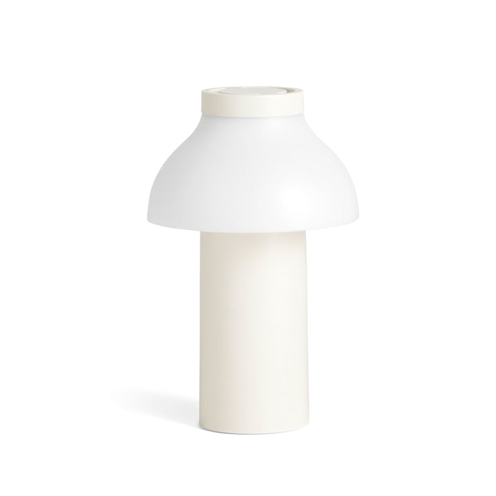 PC Portable LED Light from Hay in cream white (RAL 9010)