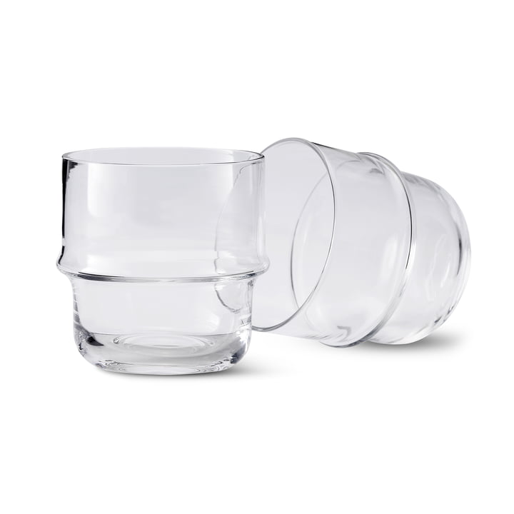 Unda glass (set of 2) in clear from Design House Stockholm