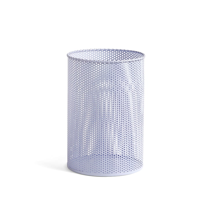 Perforated Bin M Ø 25 x H 36 cm by Hay in lavender