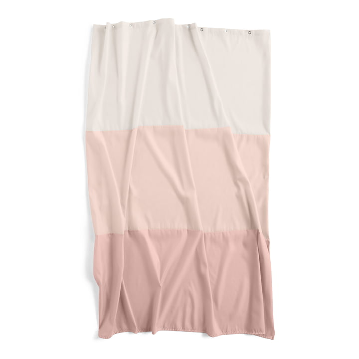 Watercolours shower curtain 200 x 180 cm by Hay in horizontal rose