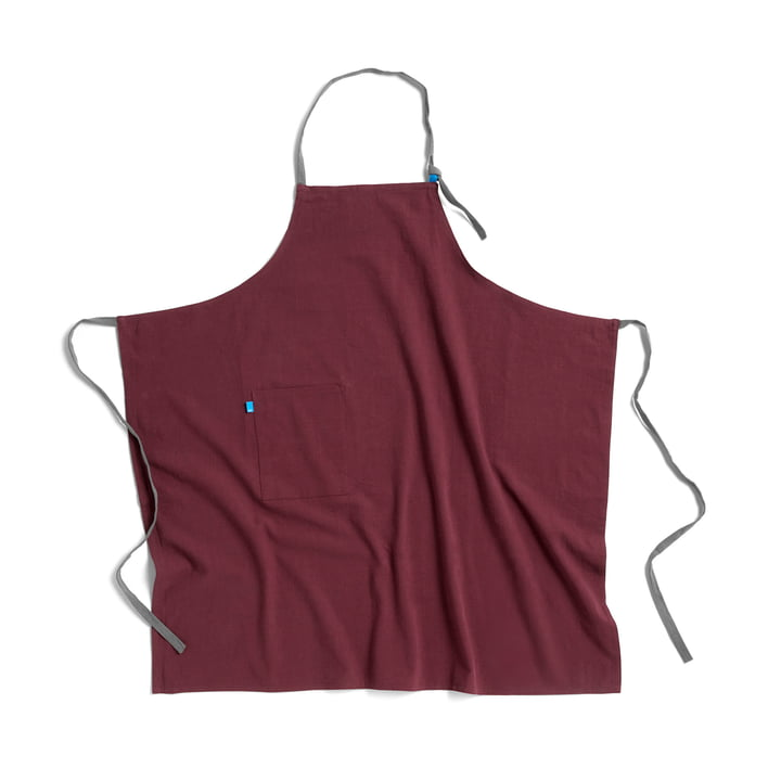 Wrap apron from Hay in burgundy