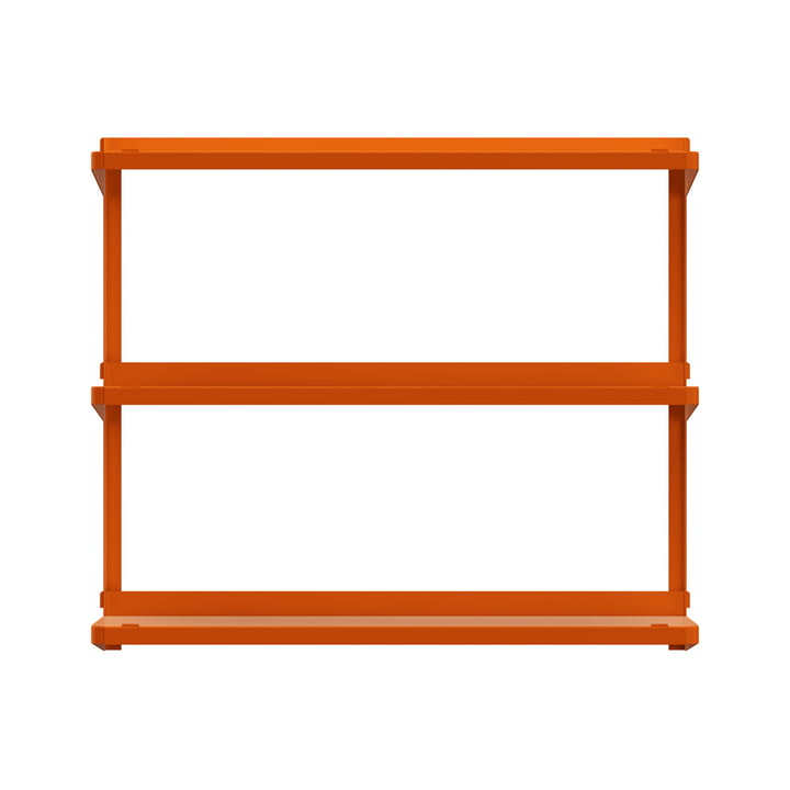 Click shelving system 710 × 210 × 610 mm from New Tendency in orange