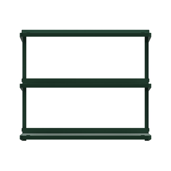 Click shelving system 710 × 210 × 610 mm from New Tendency in dark green