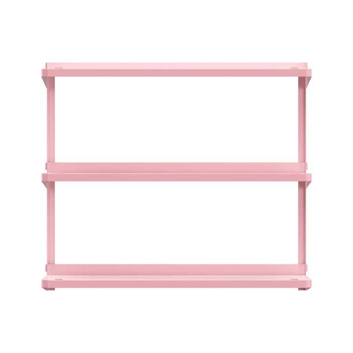 Click shelving system 710 × 210 × 610 mm of New Tendency in pink
