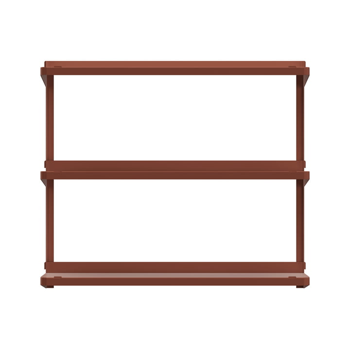 Click shelving system 710 × 210 × 610 mm from New Tendency in sienna