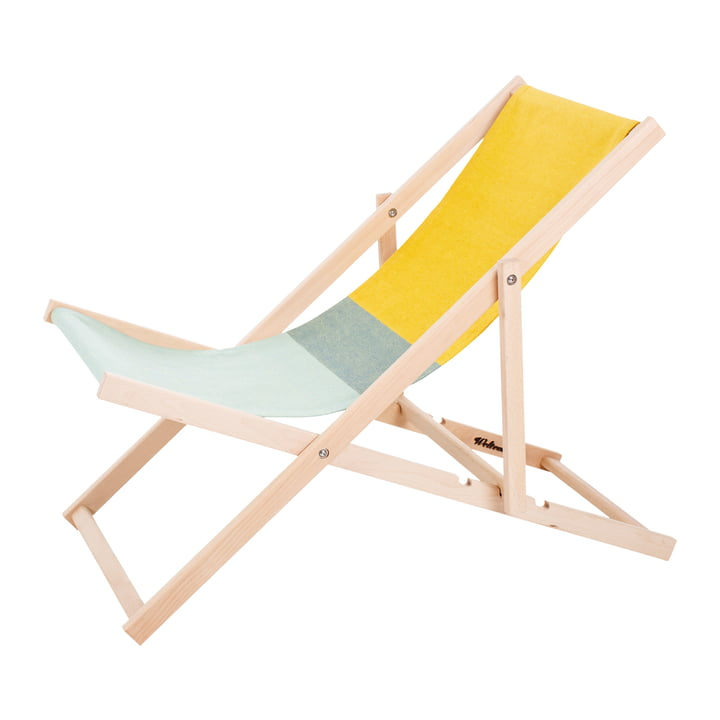 Beach Chair in green / yellow by Weltevree
