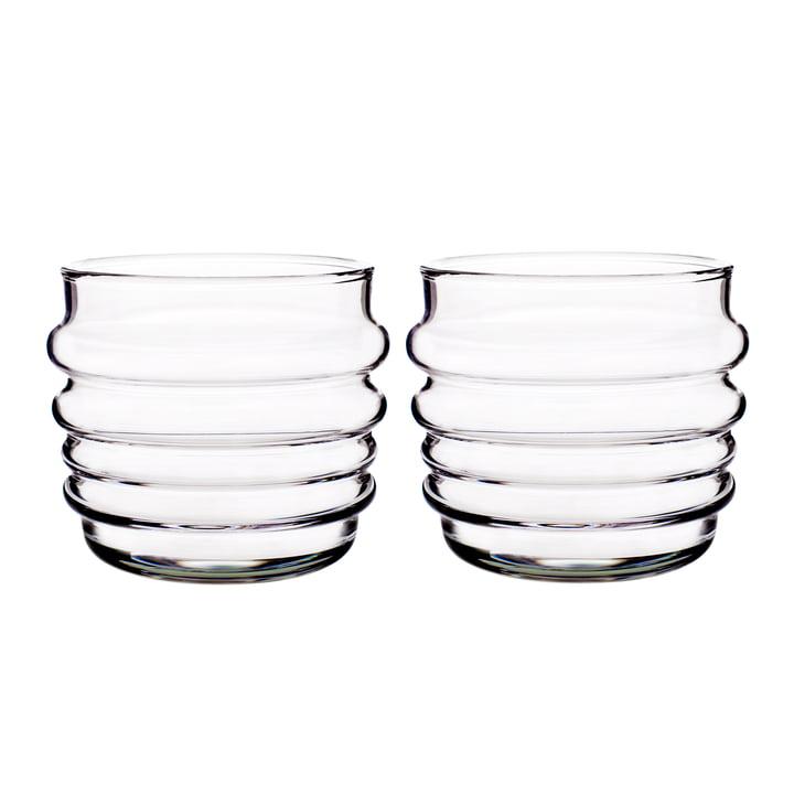 Succat Makkaralla water glass 200 ml (set of 2) from Marimekko in clear