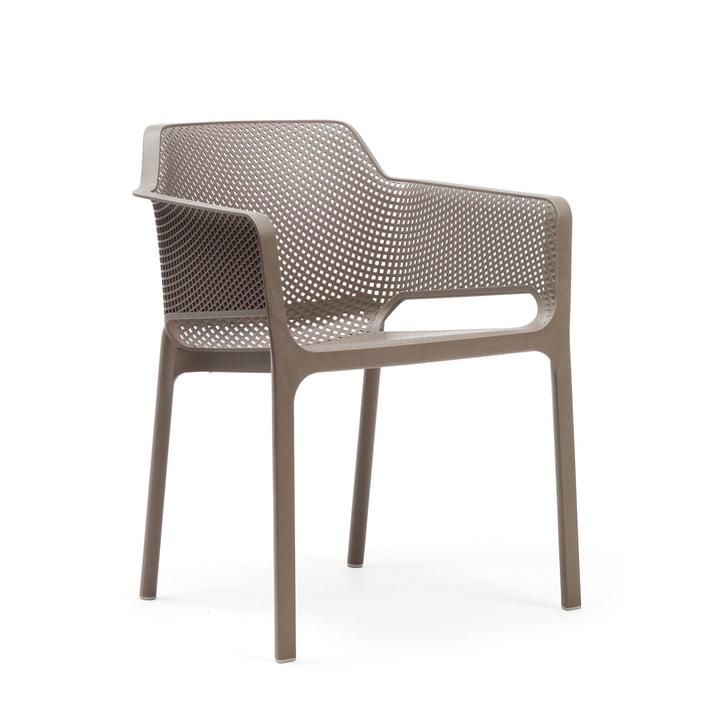 Net armchair from Nardi in tortora