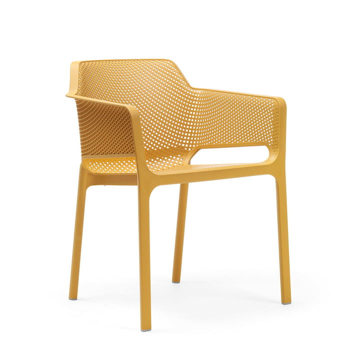 Net armchair from Nardi in senape