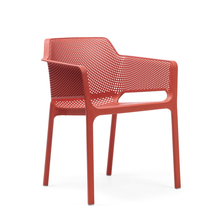 Net armchair from Nardi in koralle