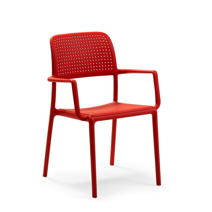 Bora armchair in red by Nardi