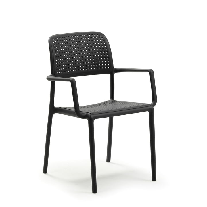Bora armchair in anthracite by Nardi