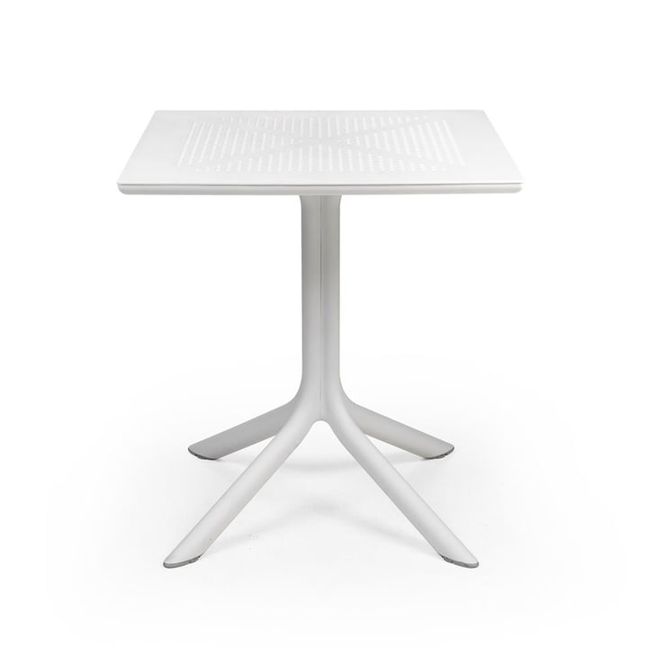 The ClipX 70 table in white by Nardi