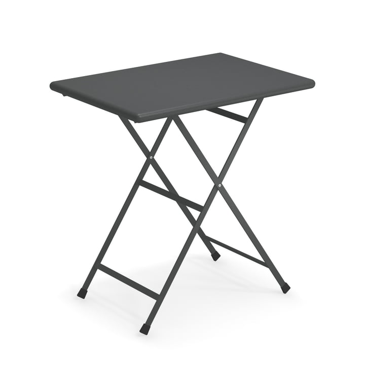 Arc en Ciel folding table, 70 x 50 cm in antique iron by Emu