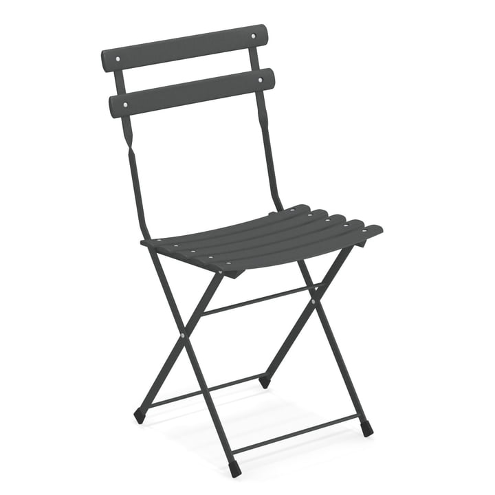 Arc en Ciel folding chair in antique iron by Emu
