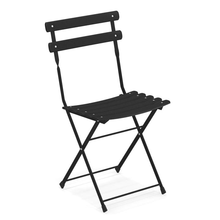Arc en Ciel folding chair in black by Emu
