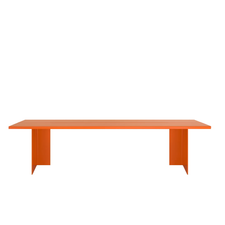 Zebe bench Large of objects of our days in pure orange