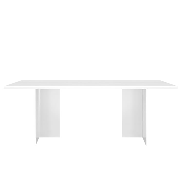 Zebe table 200 x 85 cm of objects of our days in white