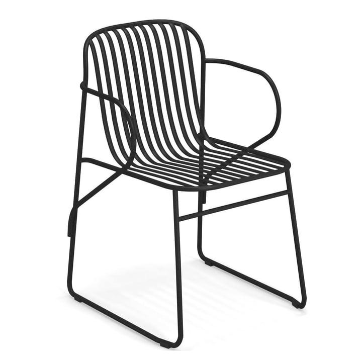 Riviera armchair in black by Emu