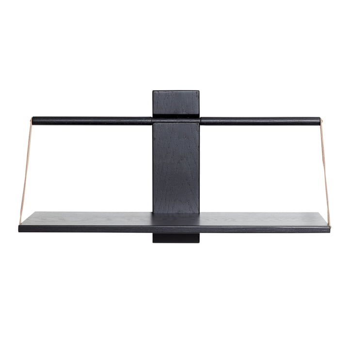 Wood Wall hanging shelf 60 x 25 x H 32 cm by Andersen Furniture in black