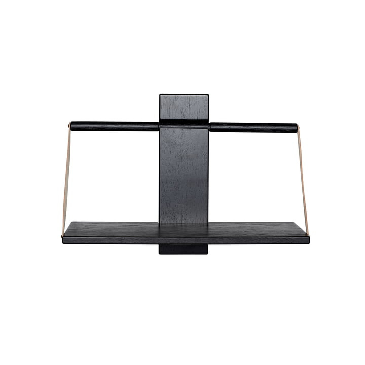 Wood Wall hanging shelf 45 x 20 x H 32 cm by Andersen Furniture in black