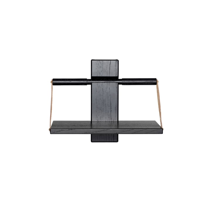 Wood Wall hanging shelf 30 x 18 x H 24 cm by Andersen Furniture in black