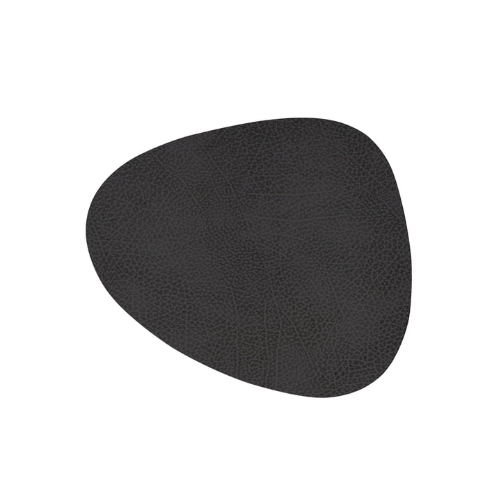 Glass Coaster Curve from LindDNA in Hippo black anthracite