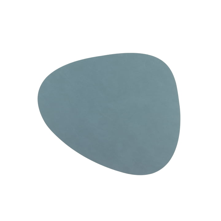 Glass Coaster Curve from LindDNA in Nupo light blue