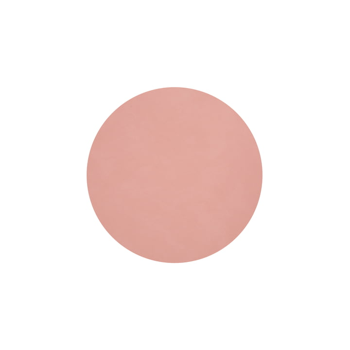 Glass coaster round Ø 10 cm from LindDNA in Nupo rose