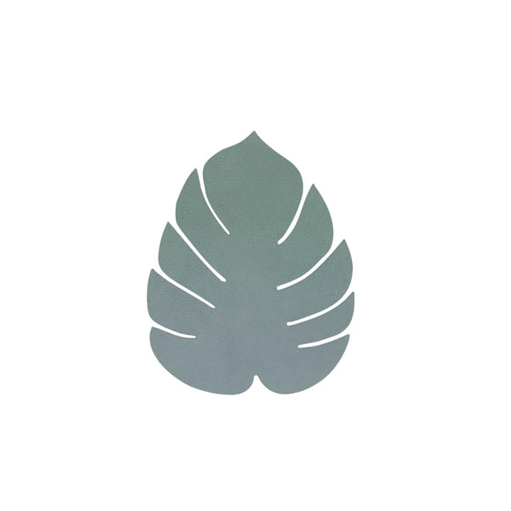 Glass coaster Monstera from LindDNA in Nupo pastel-green