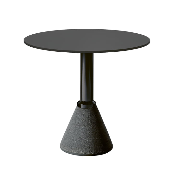 Table One Bistro Ø 79 cm in black / black by Magis