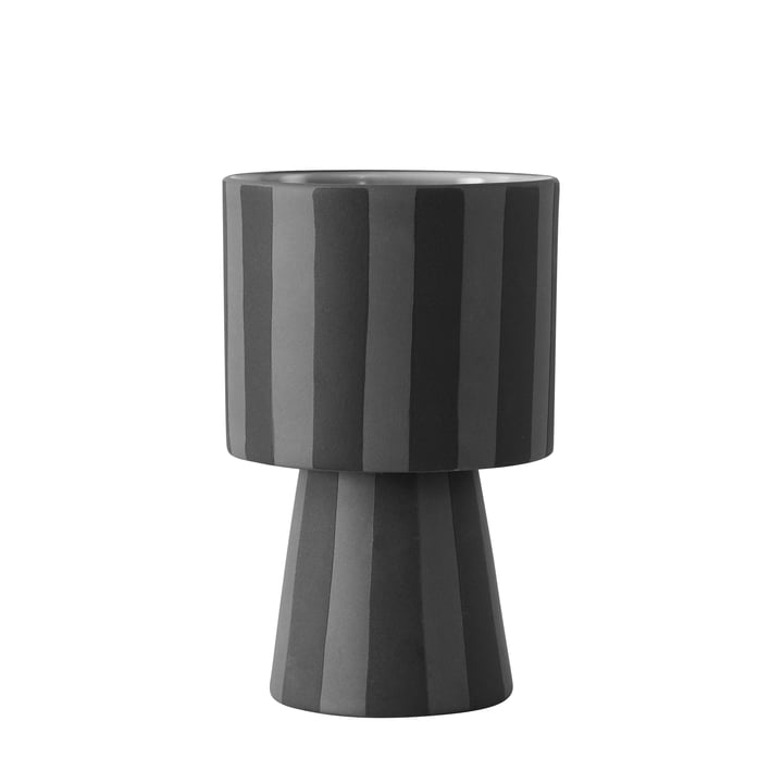 Toppu planter Ø 10 x H 15 cm from OYOY in black / grey