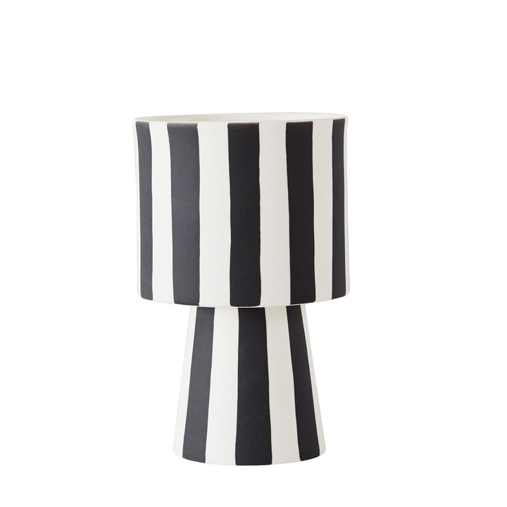 Toppu planter Ø 10 x H 15 cm from OYOY in black / white