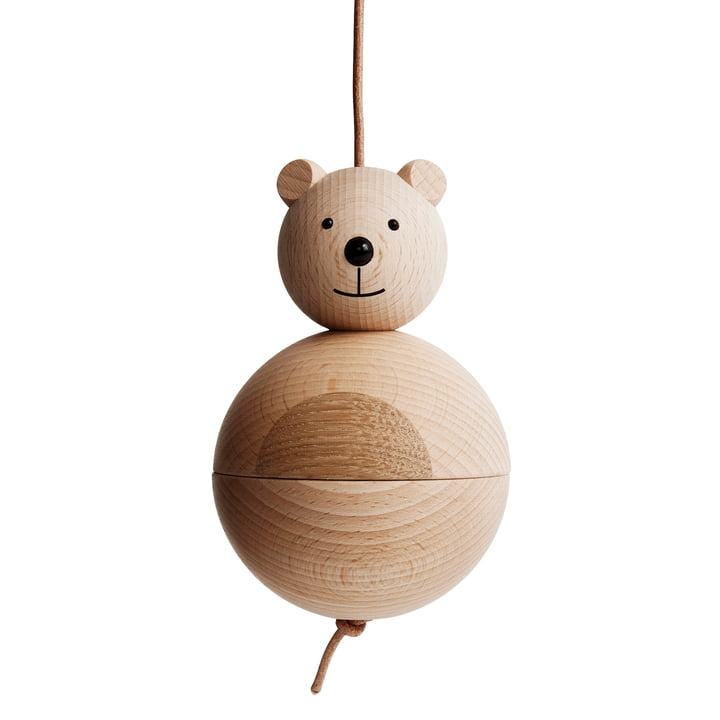 Wooden figure bear by OYOY made of oak / beech