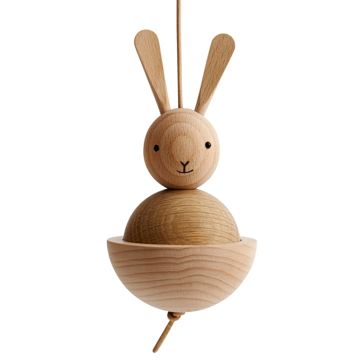Wooden figure hare from OYOY in oak / beech