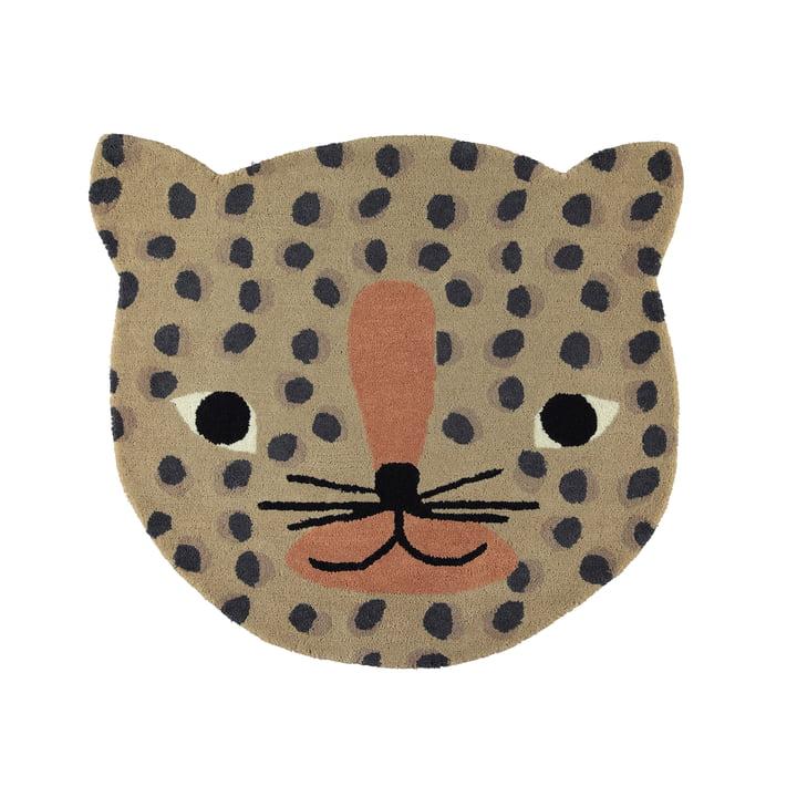 Leopard children's carpet 84 x 94 cm by OYOY