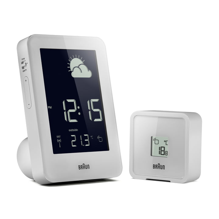 Wireless weather station from Braun in white