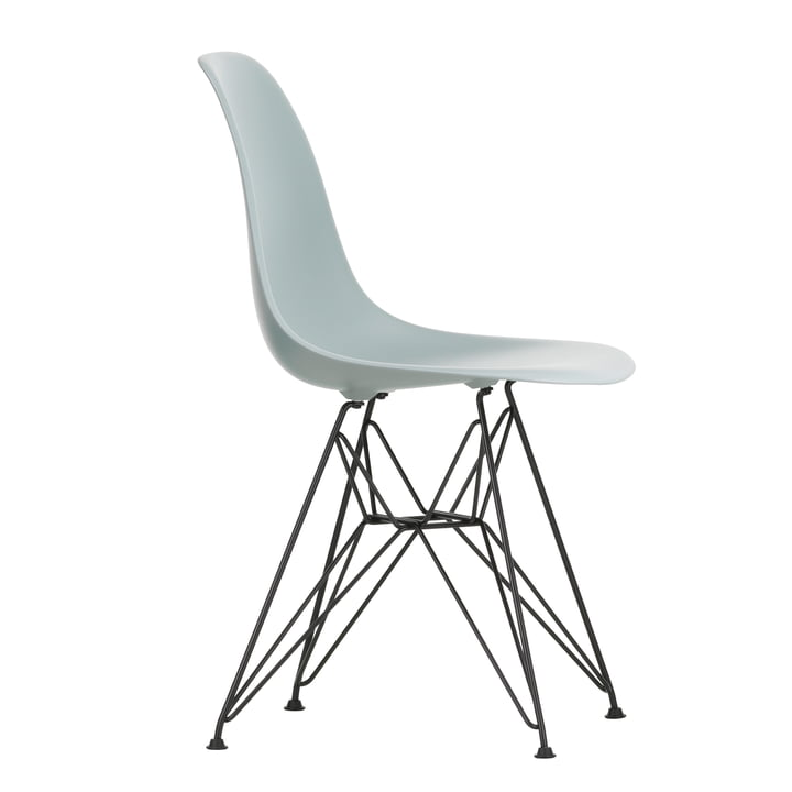 Eames Plastic Side Chair DSR by Vitra in basic dark / light grey