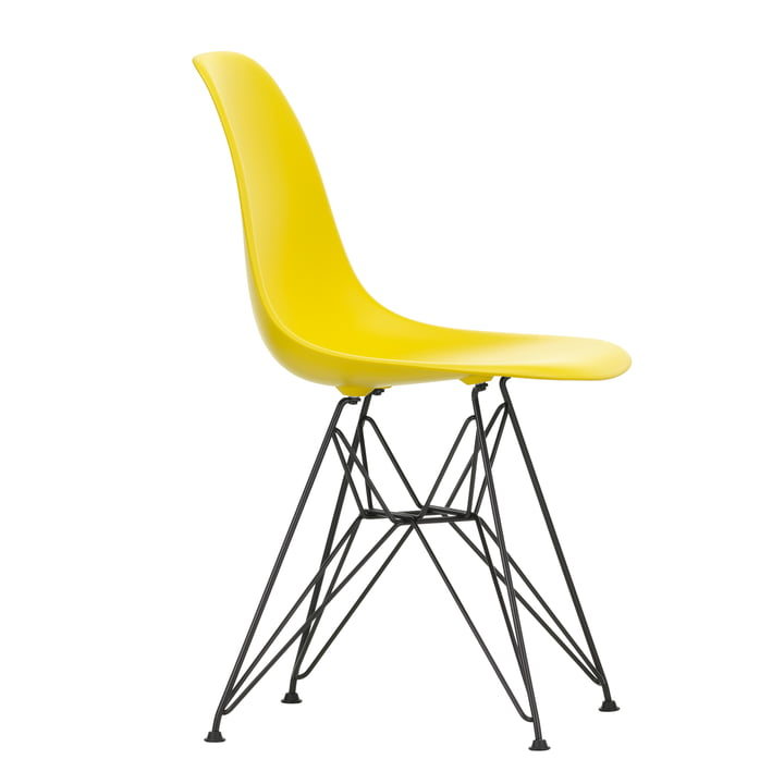 Eames Plastic Side Chair DSR by Vitra in basic dark / sunlight