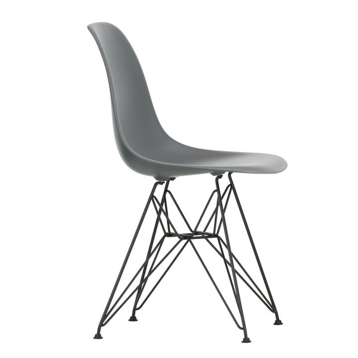 Eames Plastic Side Chair DSR by Vitra in basic dark / granite grey