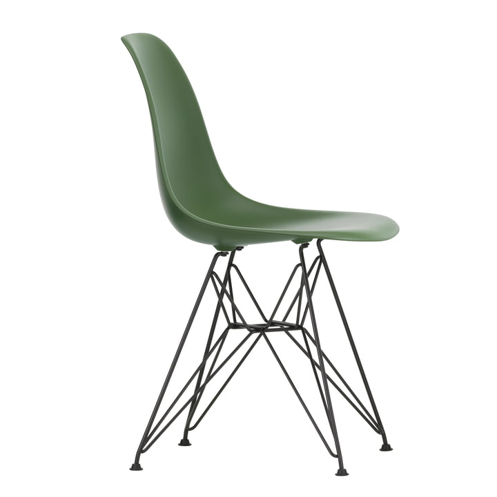 Eames Plastic Side Chair DSR by Vitra in basic dark / forest