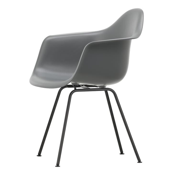 Eames Plastic Armchair DAX by Vitra in basic dark / granite grey