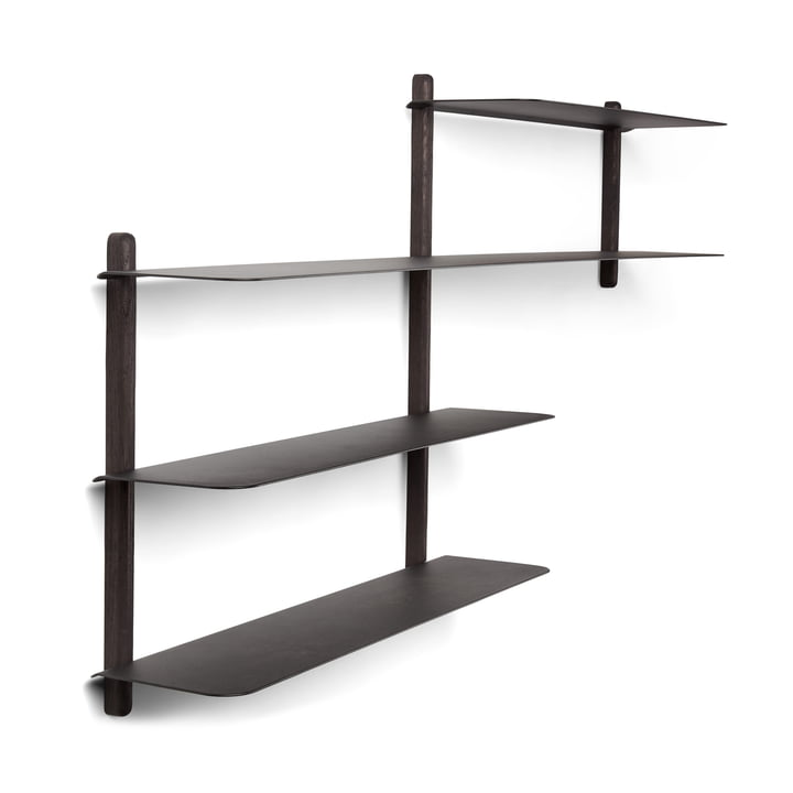 Nivo wall shelf B in black by Gejst