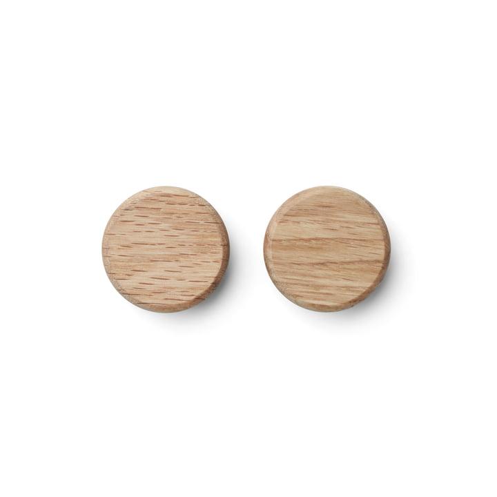 Flex Button in oak (set of 2) by Gejst