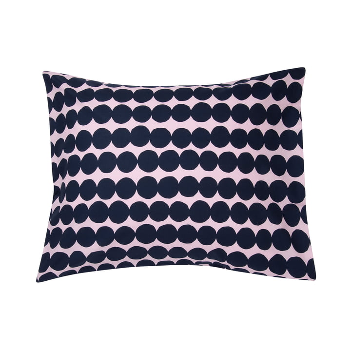 Räsymatto pillowcase by Marimekko in pink / dark blue
