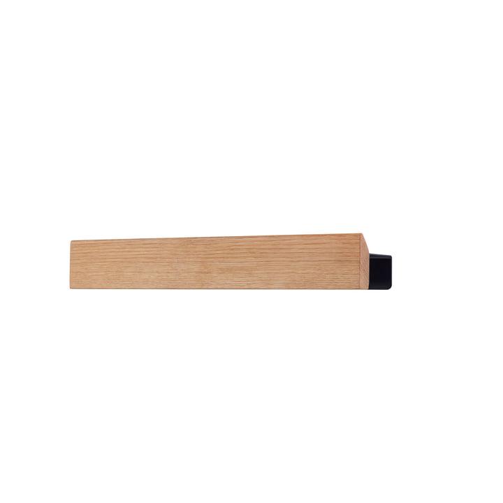 The Flex shelf 40 cm in oak / black by Gejst