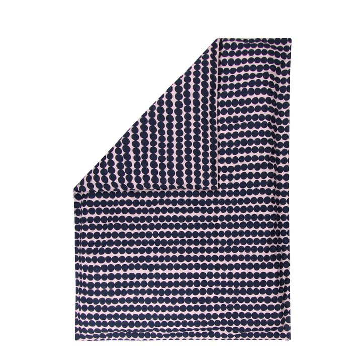 Räsymatto blanket cover from Marimekko in pink / dark blue
