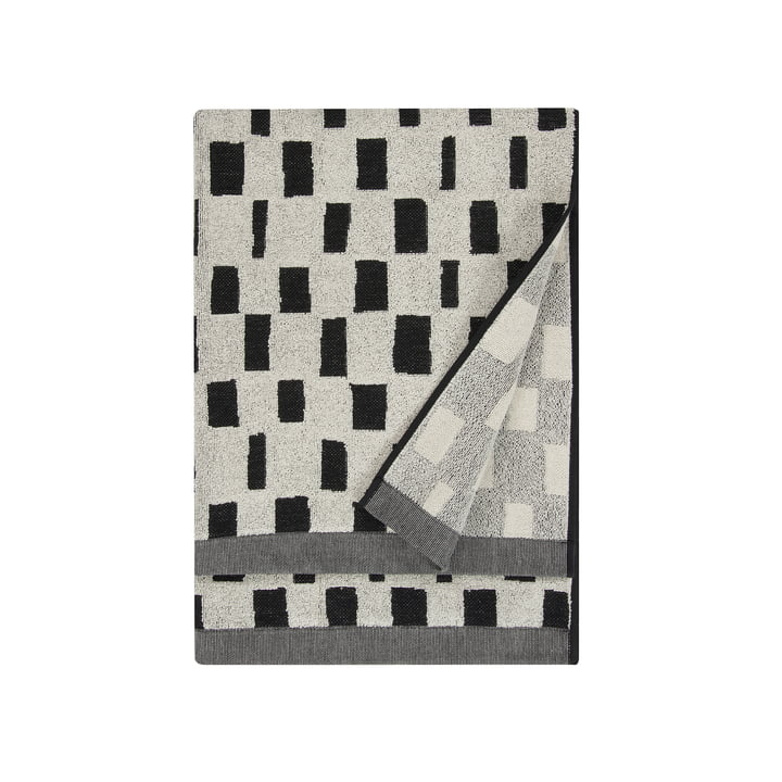 Iso Noppa bath towel 75 x 150 cm from Marimekko in off-white / black